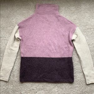 Colorblocked turtleneck sweater size small!